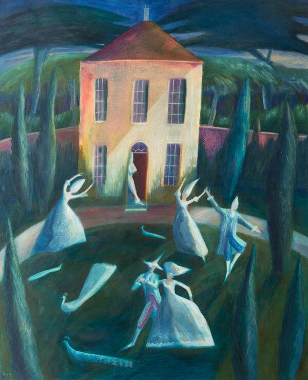 CHICHESTER-CLARK Emma (b.1956) - Dancers in a garden.