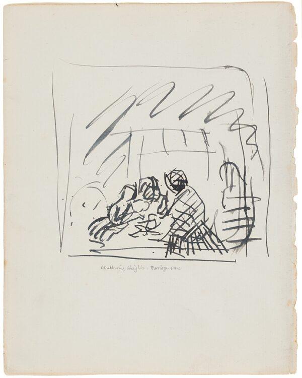 CLARKE HALL Edna (1879-1979) - 'Wuthering Heights, Porridge scene'.