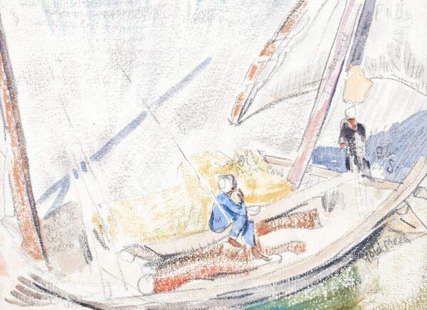CLARKE HALL Edna (1879-1979) - Felucca on the Nile.