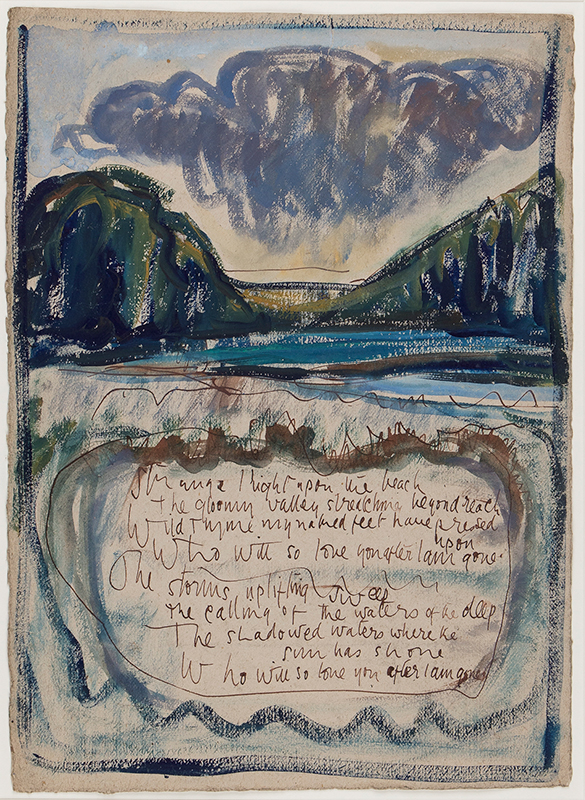 CLARKE HALL Edna (1879-1979) - 'Strange light upon the beach…' Ink, watercolour and gouache.