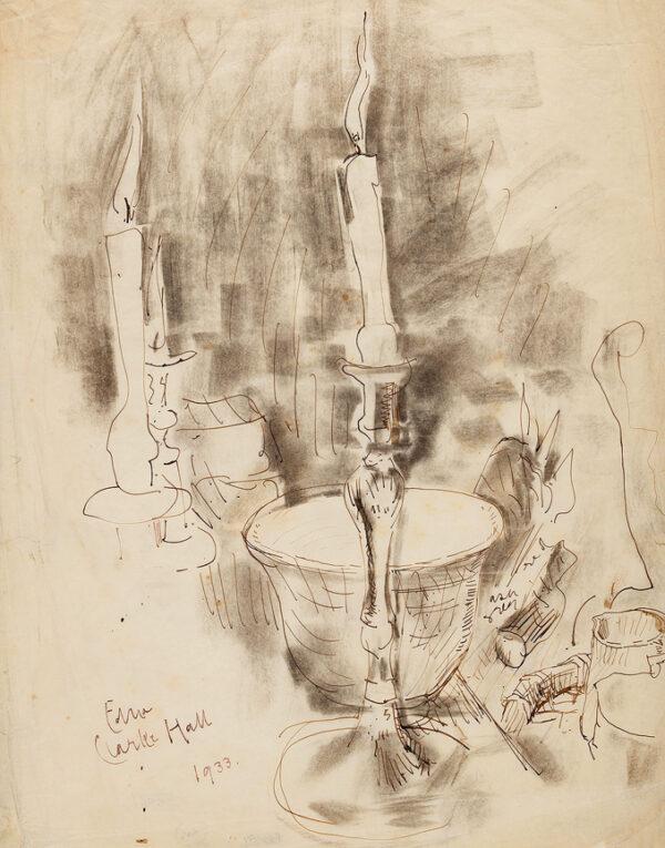 CLARKE HALL Edna (1879-1979) - A candle's light.