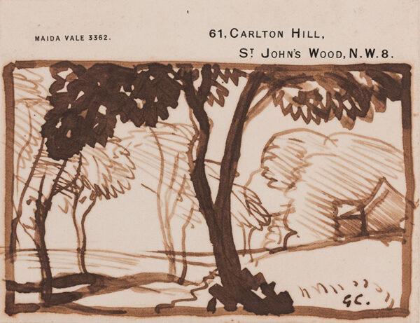 CLAUSEN Sir George R.A. R.W.S. (1852-1944) - Landscape study.
