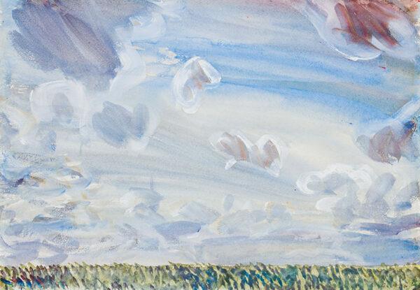 CLAUSEN Sir George R.A. (1852-1944) - An Essex sky.