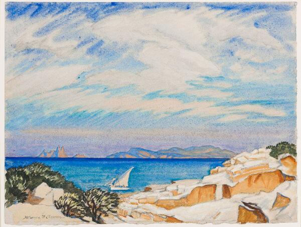 CLAUSEN Katherine (1886-1936) - The Aegean Coast.