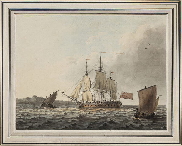 CLEVELEY Robert (1747-1809) - Luffing Up.