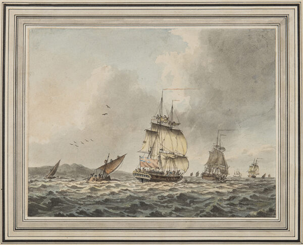 CLEVELEY Robert (1747-1809) - Running before the Wind.