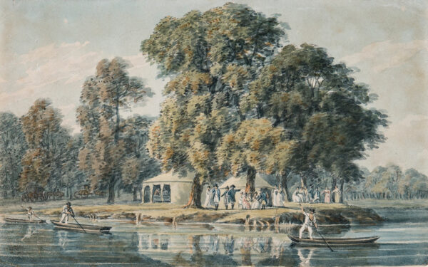 CLEVELEY Robert (1747-1809) - 'Punting near Windsor on the Duke of Clarence's birthday'.