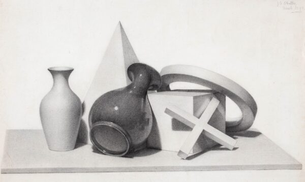 CLOUTING Josephine (Student South Kensington Schools of Design c.1898) - Formal and spatial Student Composition.