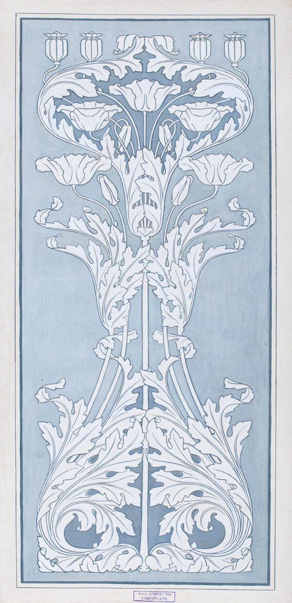 CLOUTING Josephine (c.1900) - Design for an art nouveau panel.