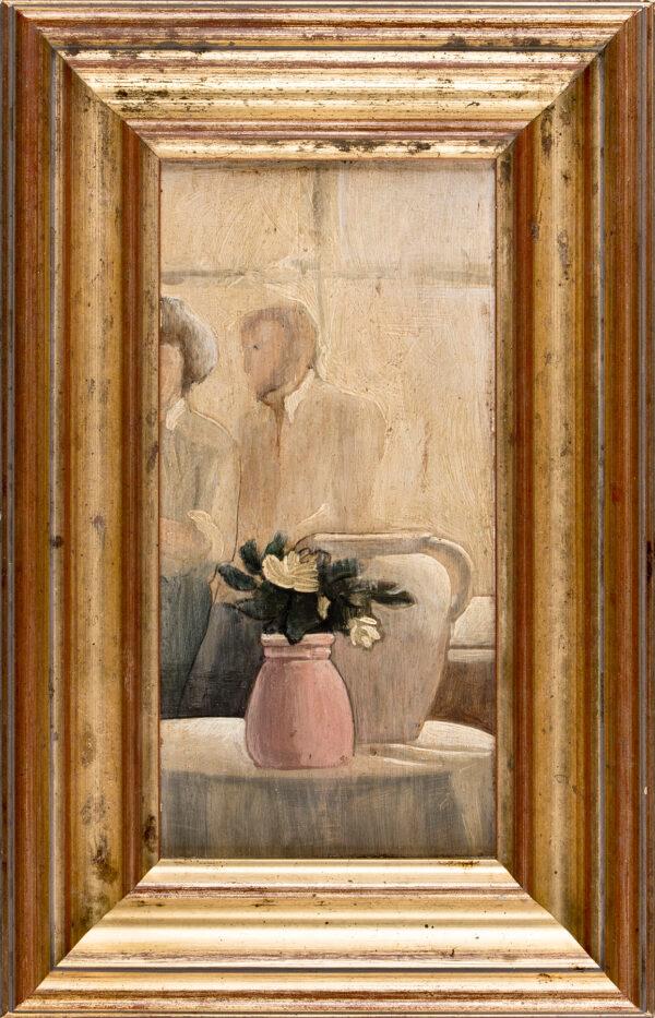 COBBE Alec (b.1945) - 'Flowers in a pink vase at Clandeboye'.