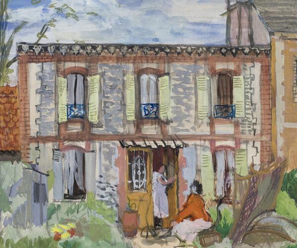 COKE Dorothy R.W.S. N.E.A.C. (1897-1979) - House at Dieppe.