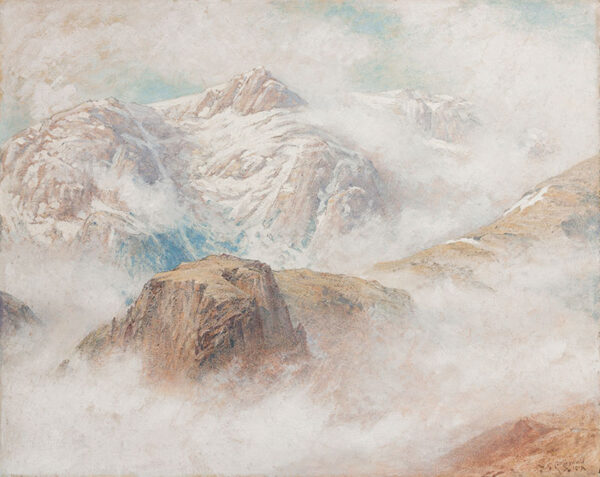 COLLINGWOOD William Gershom (1854-1932) - 'The Crags of Levenswater'.