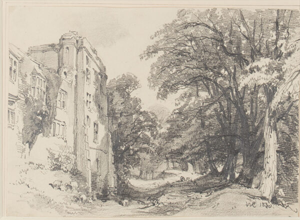 COLLINGWOOD William R.W.S. (1819-1903) - Fortified house in a wood.