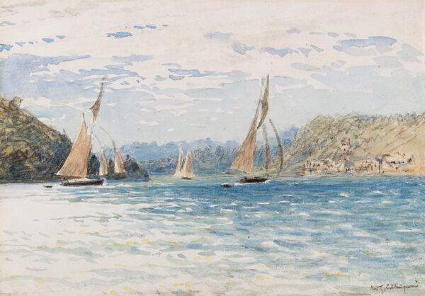 COLLINGWOOD William Gershom (1854-1932) - 'Off Stockholm'.