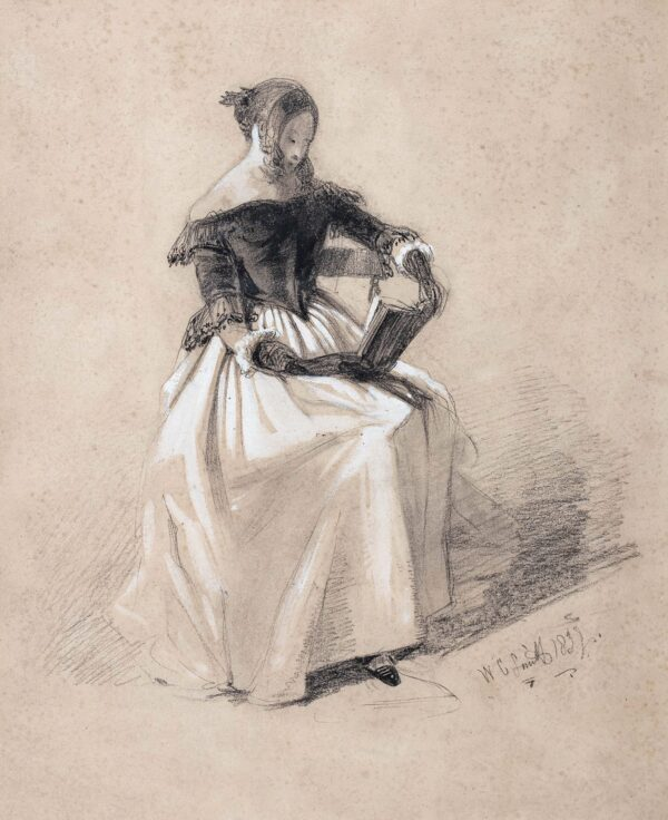 COLLINGWOOD SMITH William O.W.S. (1815-1887) - 'Reading'.