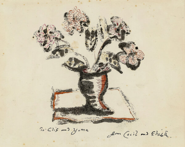 COLLINS Cecil (1908-1989) - A vase of flowers.