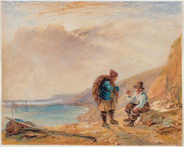 COLLINS William R.A. (1788-1847) - Fishermen on the shore.