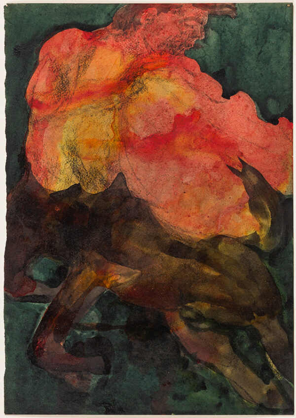 COLQUHOUN Ithell (1906-1988) - 'Nessus divesting himself of his shirt'.