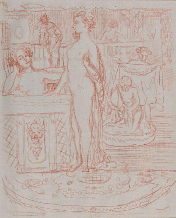 CONDER Charles N.E.A.C. (1868-1909) - A bath house.