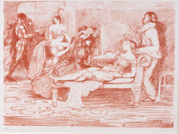 CONDER Charles (1868-1909) - 'The Green-Room': for 'The Carnival Set' (CD.