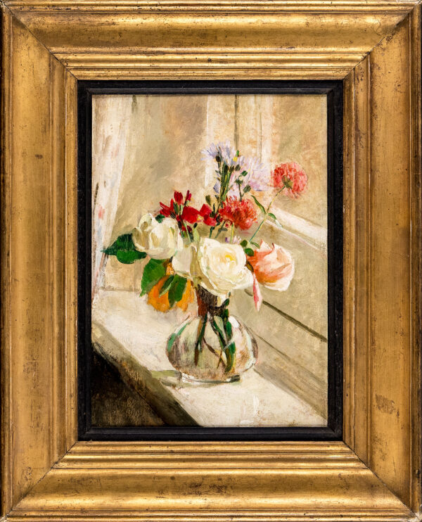 CONNARD Philip R.A. C.V.O. (1875-1958) - Glass vase of flowers.