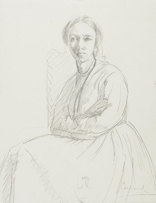 CONNARD Philip R.A. (1875-1958) - A study of Mary, the artist's wife.