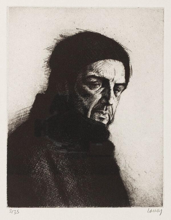 CONROY Stephen (b.1964) - 'Self-Portrait with Hat'.
