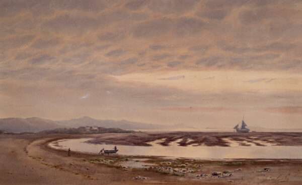 COOKE Isaac (1846-1922) - Low tide, North Wales.