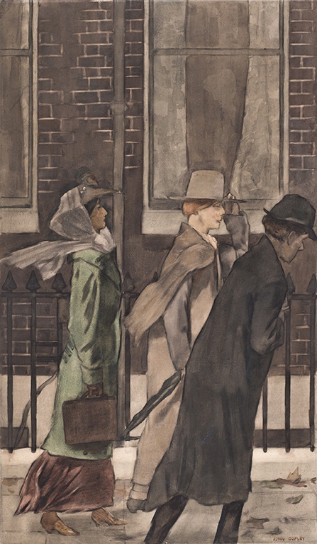 COPLEY John P.R.B.A.  S.C. (1875-1950) - A Bohemian on the street.