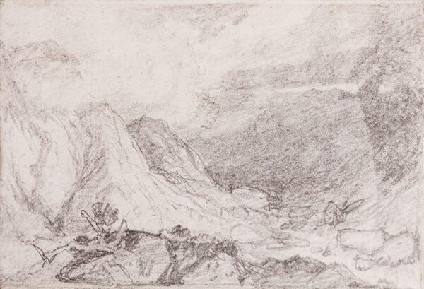 COTMAN John Sell O.W.S. (1782-1842) (Circle of) - Valley study.
