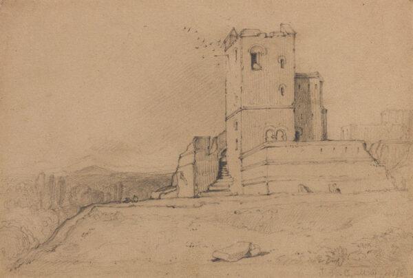 COTMAN John Sell (1782-1842) - Pencil on tan paper.
