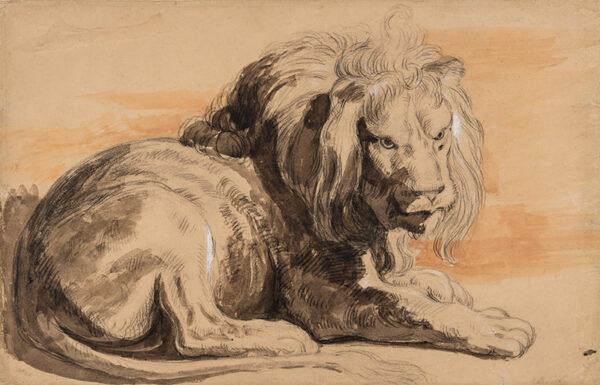COTMAN Miles Edmund (1810-1858) - The Rubens Lion.