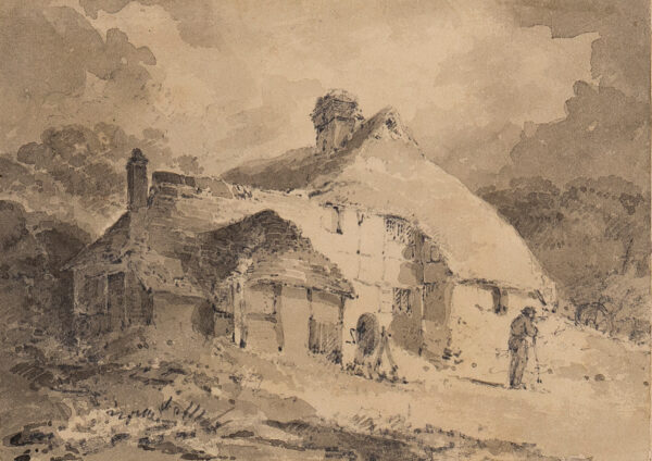 COTMAN John Sell (1782-1842) - A half-timbered cottage, possibly painted to or from Wales with Paul Sandby Munn in 1802.