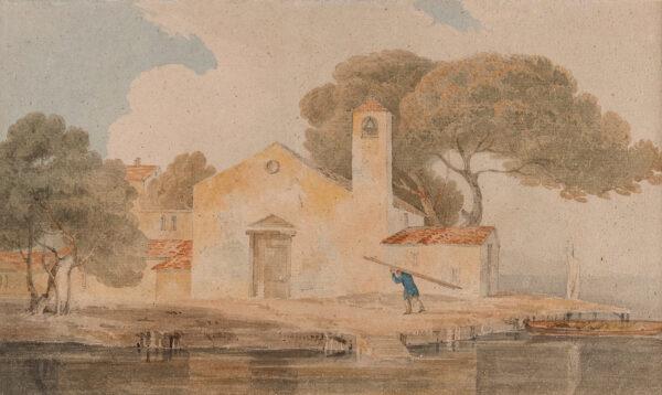 COTMAN John Sell (1782-1842) Circle of - La Madonetta, L'Anconetta, near Venice.