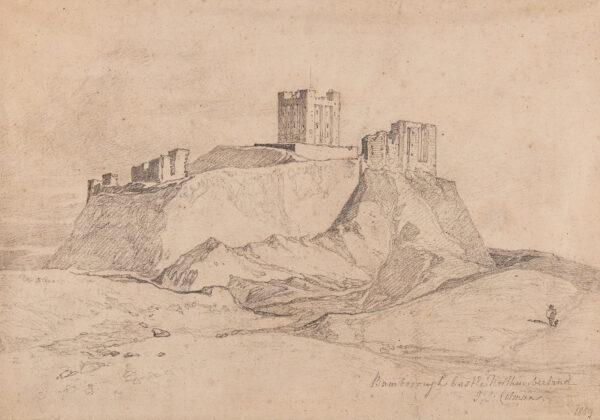 COTMAN John Sell (1782-1842) - 'Bamborough Castle, Northumberland'.