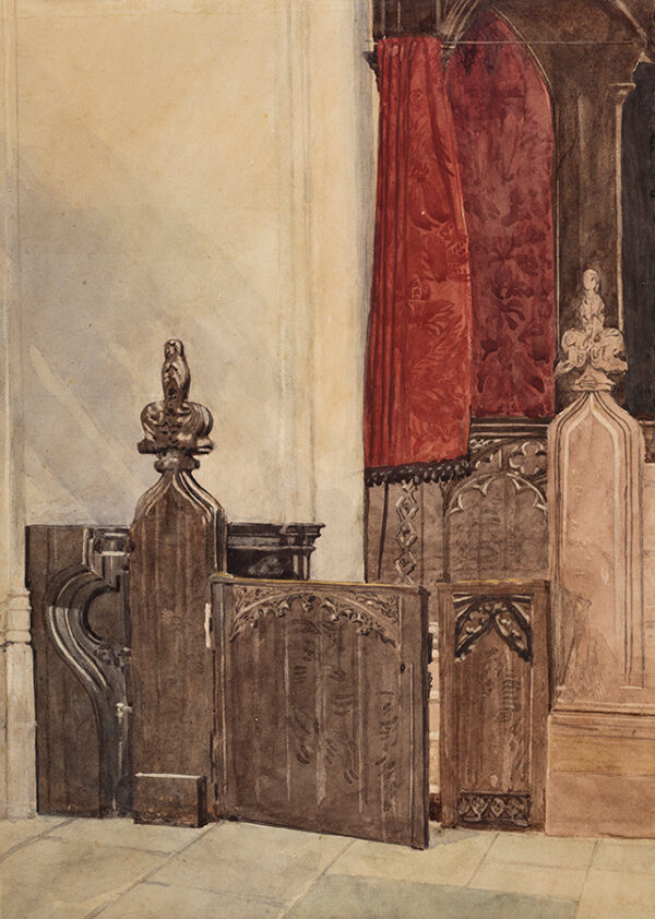 COTMAN Miles Edmund (1810-1858) (Attributed to) - Study of church pews.