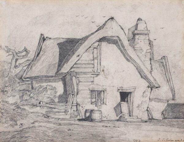 COTMAN John Sell (1782-1842) - A dilapidated cottage.