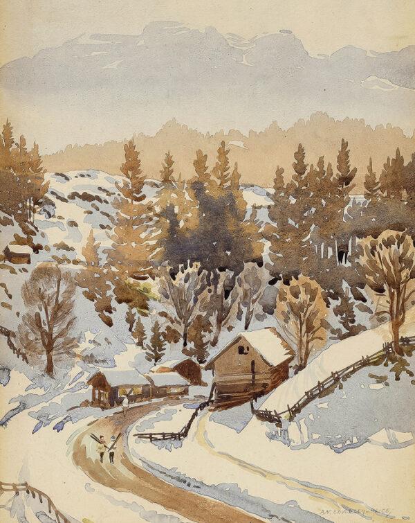 COVERLEY-PRICE Arthur Victor (1901-1988) - 'Near Engelberg, Switzerland'.