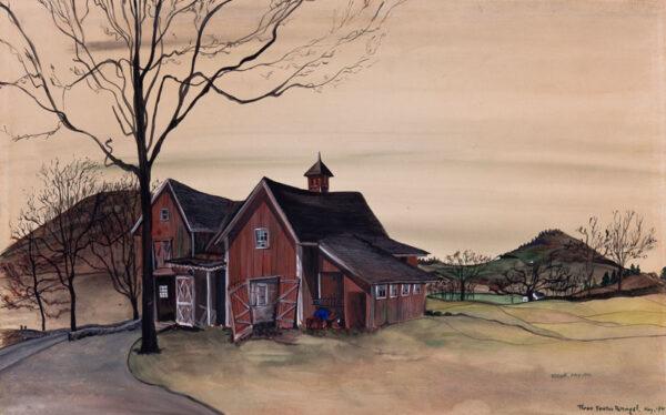 COWLES Fleur Fenton (1908-2009) - American Farm.