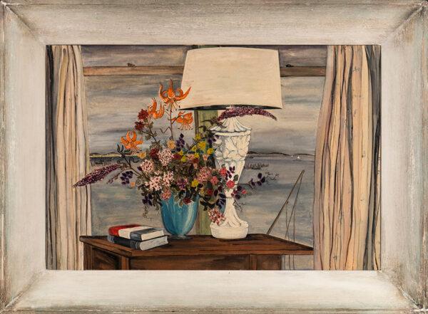COWLES Fleur (1908-2009) - Lakeside still-life.