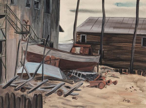 COWLES Fleur (Mrs Atherton Pettingell 1937-1946) (1908-2009) - Boatyard, Maine.