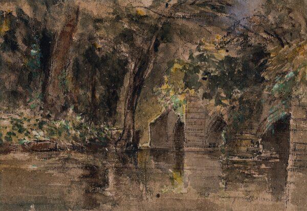 COX David O.W.S. (1783-1859) - A small bridge.
