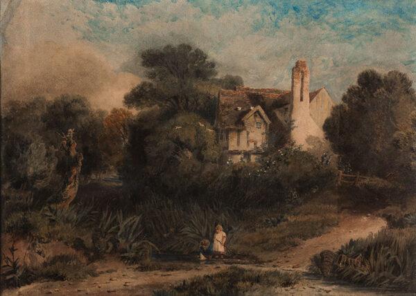 COX David O.W.S. (1783-1859) - A Remote House.