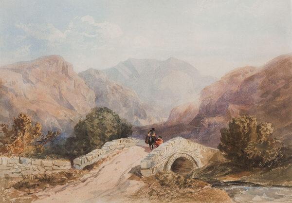 COX David Jnr (1809-1885) - The stone bridge.
