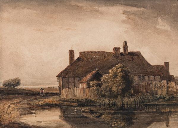 COX David O.W.S. (1783-1859) - Cottage by a pond.