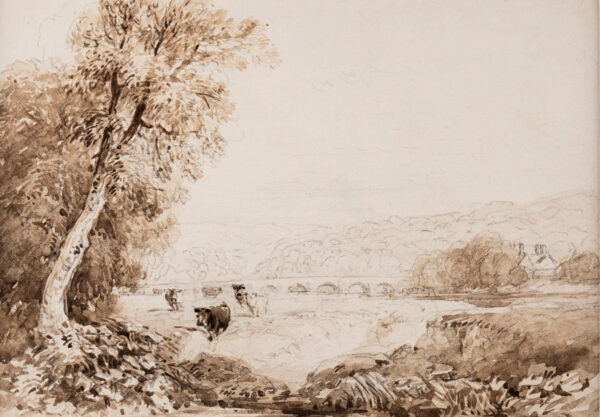 COX David O.W.S. (1783-1859) - Cattle on the banks of a river.