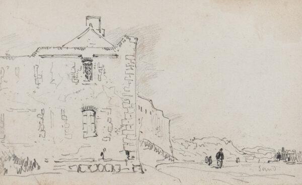 COX David O.W.S. (1783-1959) - Building on the shore.