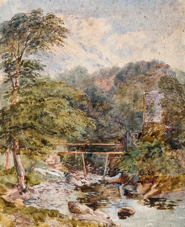 COX David Jnr (1809-1885) - 'Dolgelly, the watermill'.