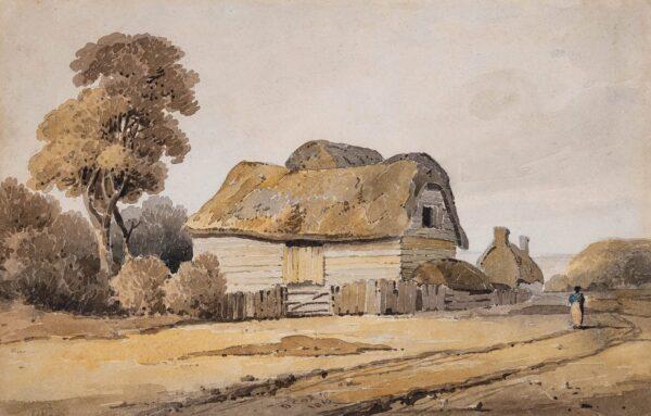 COX David O.W.S. (1783-1859) - 'Near Fattan (sic? Forton), Lanks' (sic).
