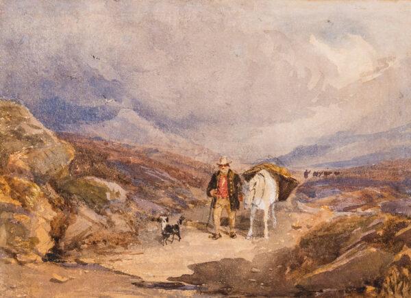 COX David O.W.S. (1783-1859) - Crossing the Moor.